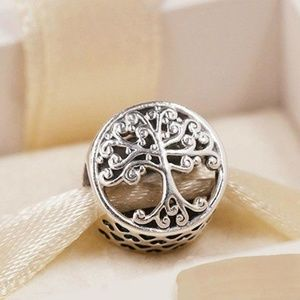 Family Roots Charm, 100% 925 Sterling Silver Fits